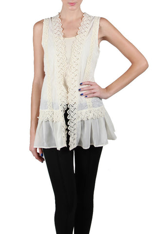 Vest with Crochet Back