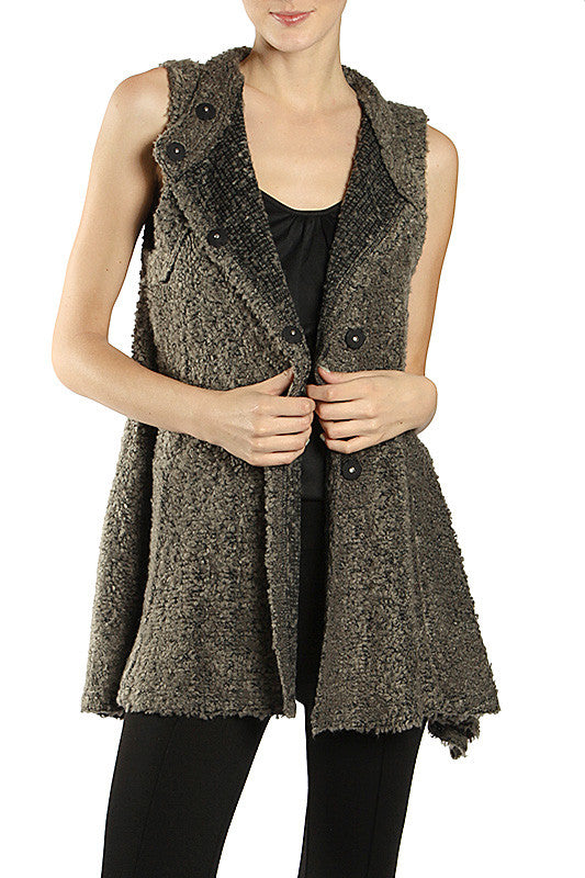 Knit Vest with Buttons
