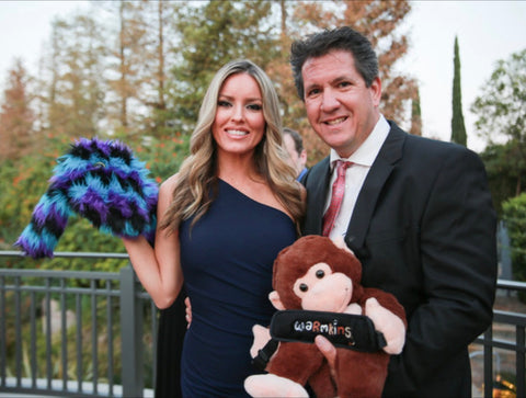 Warmkins Owner and Founder Carolyn Rene' Garrick and Paige Gordon Hugo Money and Oakely Therapeutic Weighted Sensory Plush - 10th Annual Denim, Diamonds and Stars Autism Gala ACT TODAY Four Seasons Hotel Westlake Village California