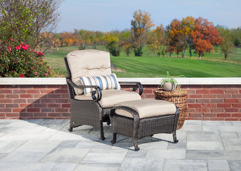 Lake Como Lounge Chair with Ottoman