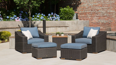 New Boston Lounge Chairs with Ottomans