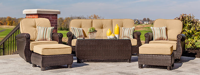 Breckenridge Patio Seating Set - Patio Lounge Chairs & Ottomans - La-Z-Boy Outdoor Furniture