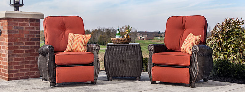 Breckenridge Patio Recliner set with Side Table