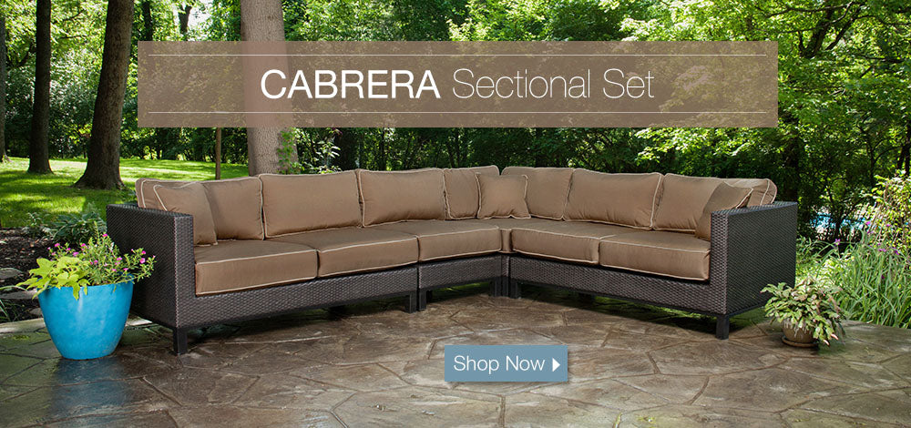 Cabrera Patio Sectional Set