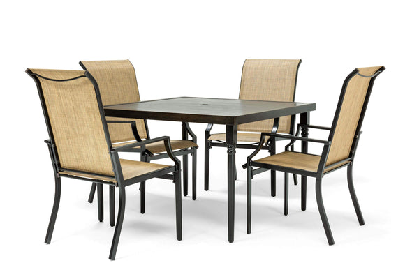 Addyson 5pc Sling Dining Set Square Dining Table And 4