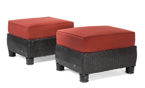 Breckenridge Patio Ottomans (Brick Red, 2 Piece)