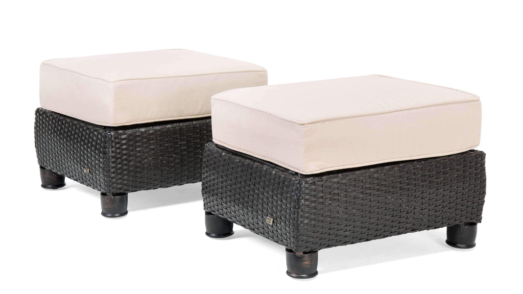 Breckenridge Patio Ottomans (Natural Tan, 2 Piece)