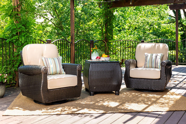Breckenridge Tan 3 Pc Patio Furniture Set 2 Swivel