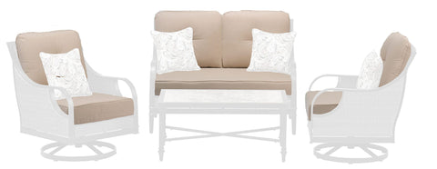 Replacement Cushions - Charlotte Seating Set Replacement Cushions