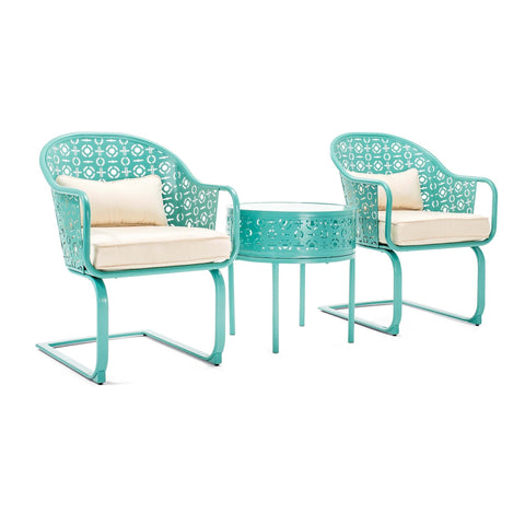 Parsons Patio Bistro Set (Blue)