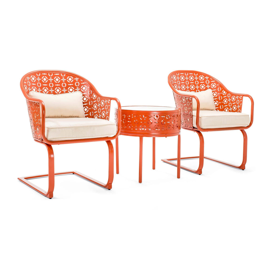 Parsons Patio Bistro Set (Melon)