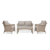 Laurel 4pc Loveseat Seating (2 Lounge Chairs, 1 Loveseat, 1 Coffee Table)
