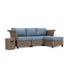 Nolin 3pc Sectional Plus 1 Side Table and 1 Ottoman (1 Armed Corner Left, 1 Armless Center, 1 Armed Corner Right, 1 Side Table, 1 Ottoman)