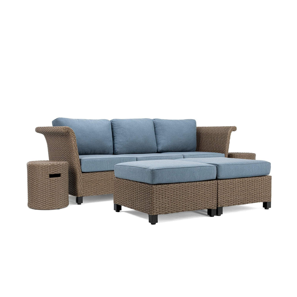 Nolin 3pc Sectional Plus 2 Side Tables and 2 Ottomans (1 Armed Corner Left, 1 Armless Center, 1 Armed Corner Right, 2 Side Tables, 2 Ottomans)