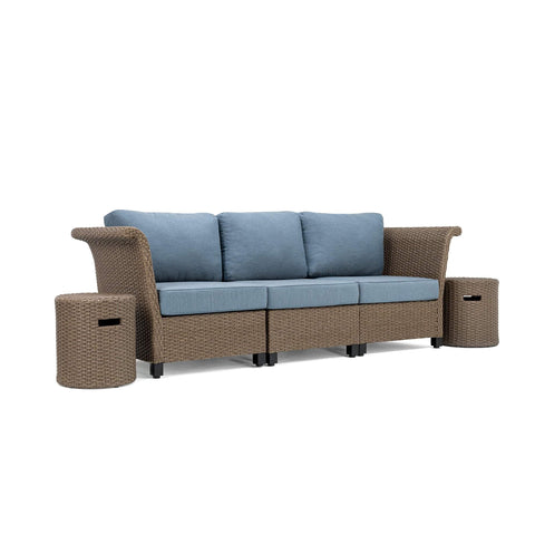 Nolin 3pc Sectional Plus 2 Side Tables (1 Armed Corner Left, 1 Armless Center, 1 Armed Corner Right, 2 Side Tables)