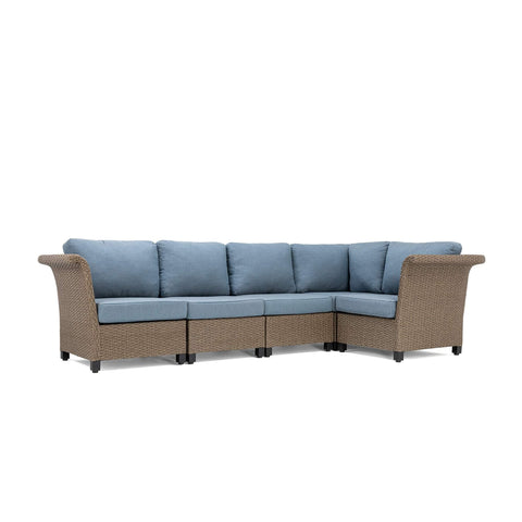 Nolin 5pc Sectional (1 Armed Corner Left, 2 Armless Centers,1 Cushioned Corner, 1 Armed Corner Right)