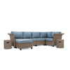 Nolin 5pc Sectional Plus 2 Side Tables and 1 Ottoman (1 Armed Corner Left, 2 Armless Centers,1 Cushioned Corner, 1 Armed Corner Right)