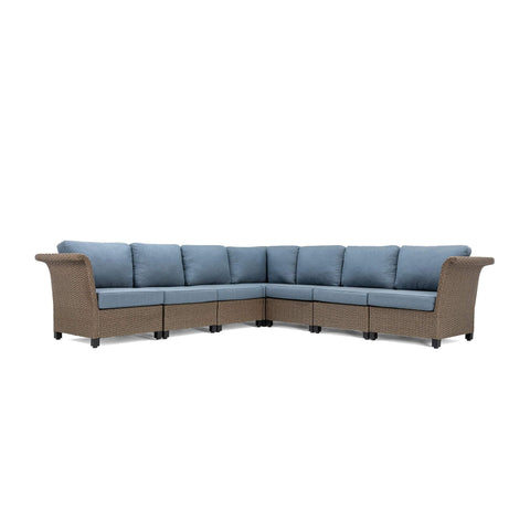 Nolin 7pc Sectional (1 Armed Corner Left, 4 Armless Centers,1 Cushioned Corner, 1 Armed Corner Right)