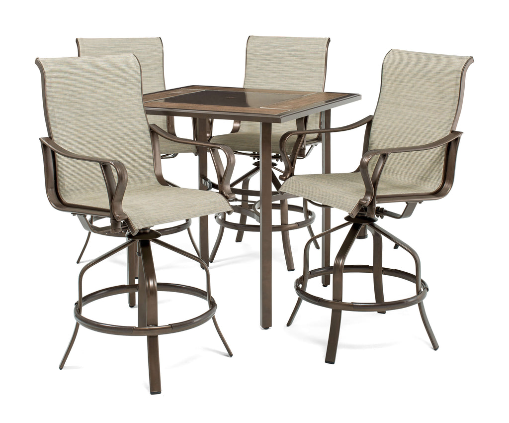 Rochester Sling 5pc Bar Height High-Dining Patio Set