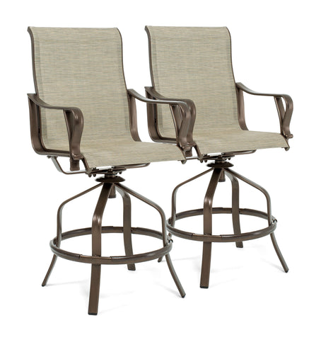 Rochester Sling Swivel High Dining Stools (2 Pack)