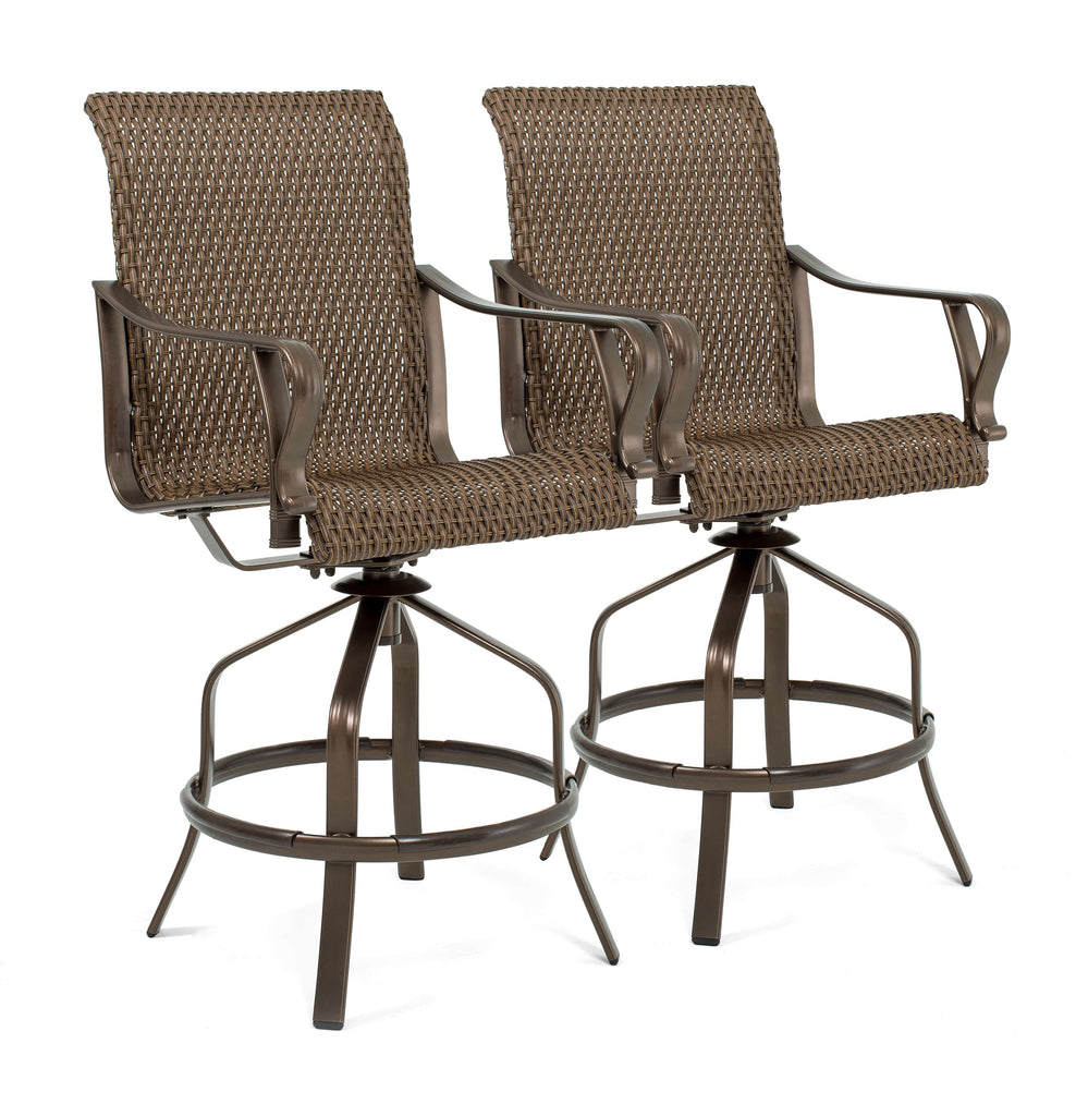 Rochester Woven Swivel High Dining Stools (2 Pack)