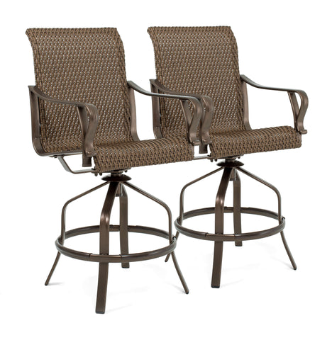Rochester Woven Swivel Bar Stools (2 Pack)