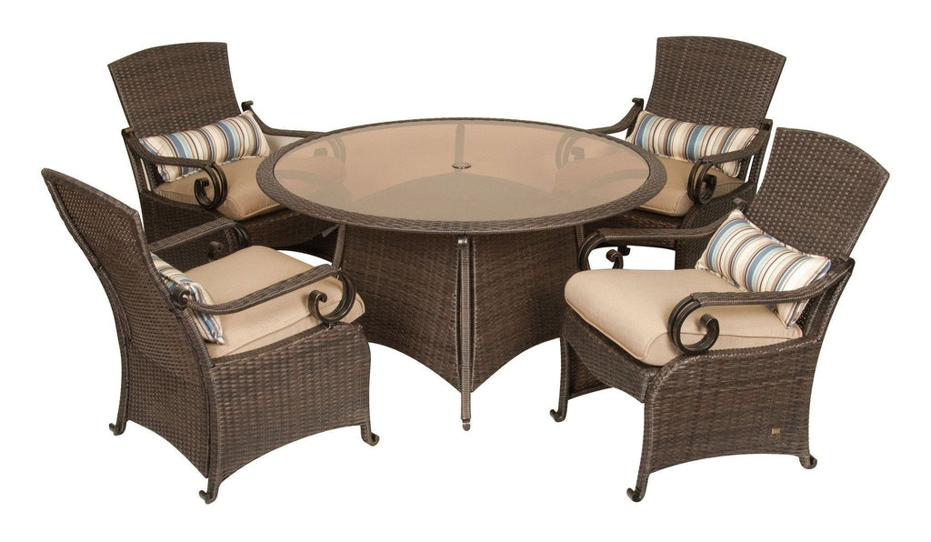 Dining - Lake Como Patio Dining Set (Khaki Tan, 5 Piece)