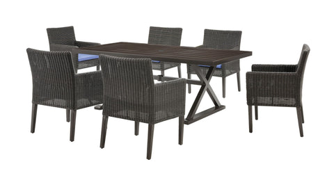 Dining - Riverview Dining Set (Denim Blue, 7 Piece)