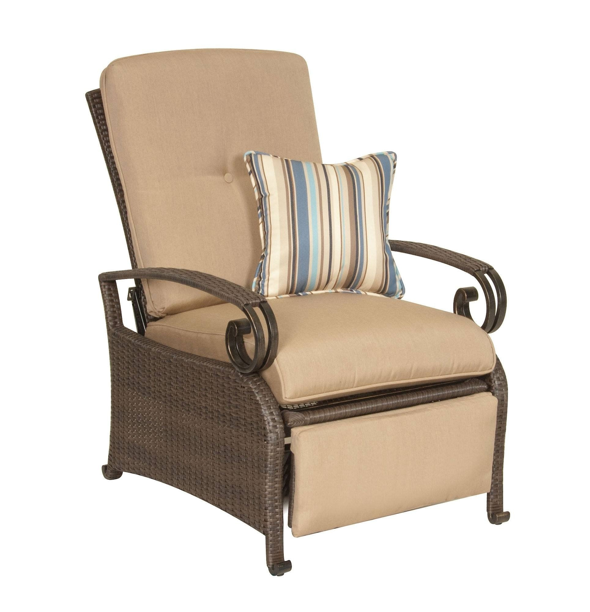 Recliner - Lake Como Patio Recliner (Khaki Tan)  sc 1 st  La-Z-Boy Outdoor & Outdoor Recliner - La-Z-Boy Outdoor Patio Furniture Wicker Recliner islam-shia.org