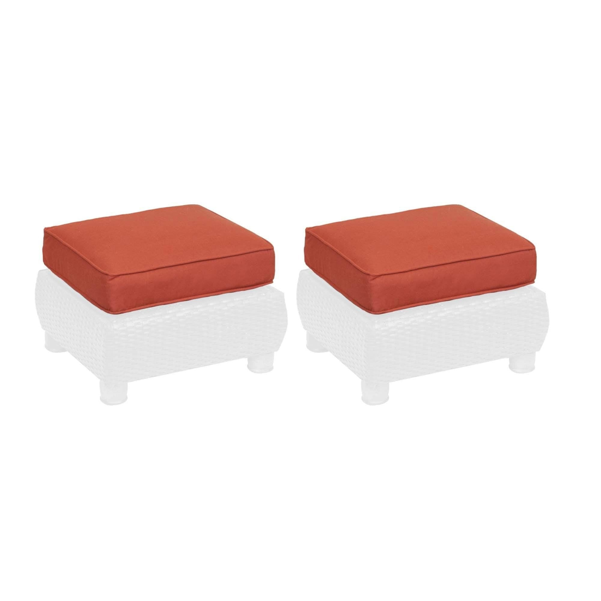 Breckenridge ottoman replacement cushion set of 2