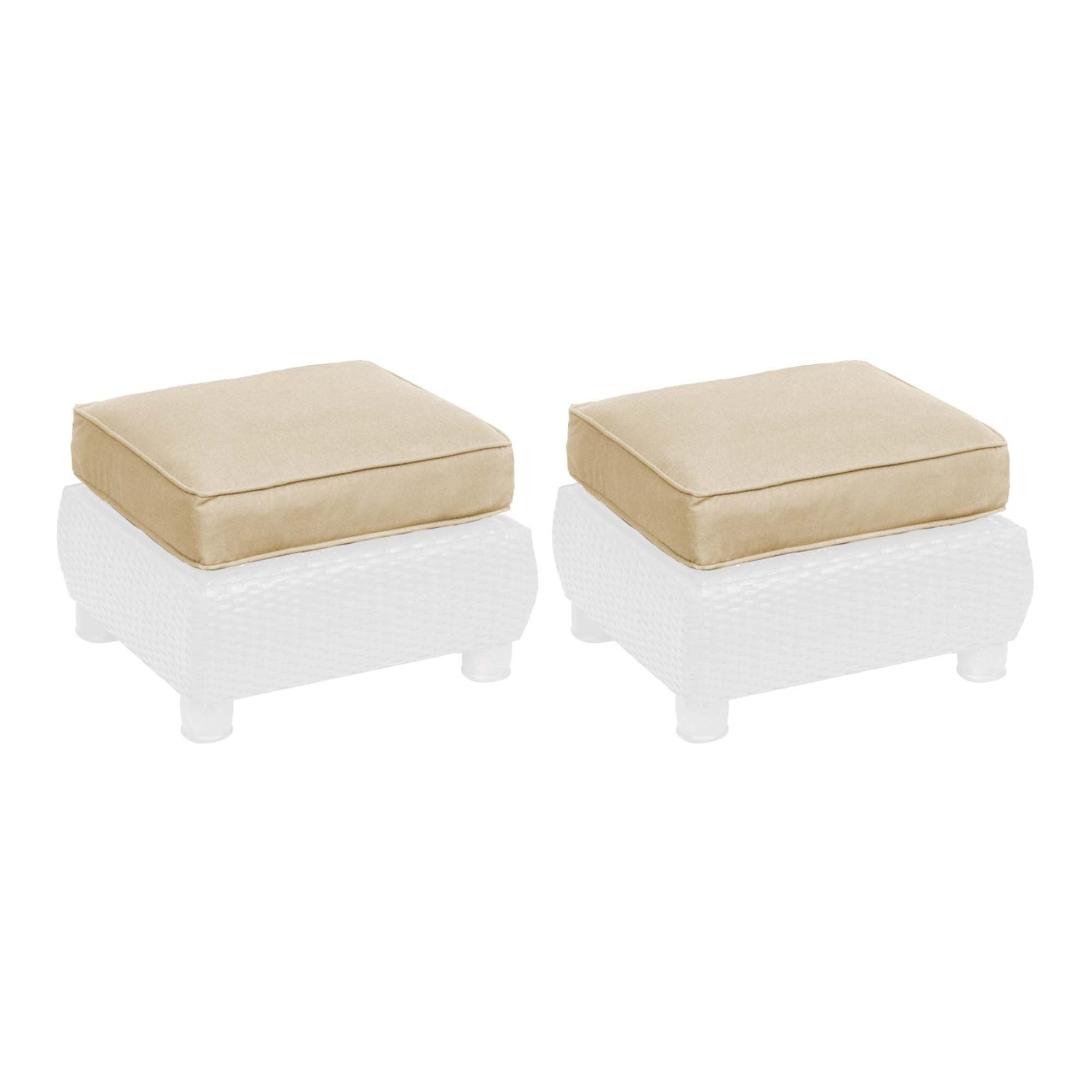 Replacement cushions breckenridge ottoman replacement cushion set of 2