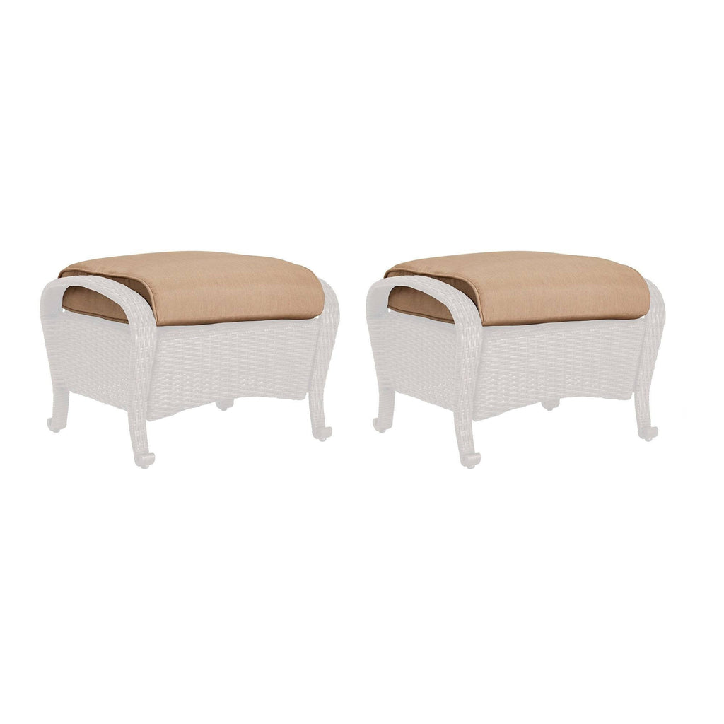 Replacement Cushions - Lake Como Ottoman Replacement Cushion (Set Of 2)