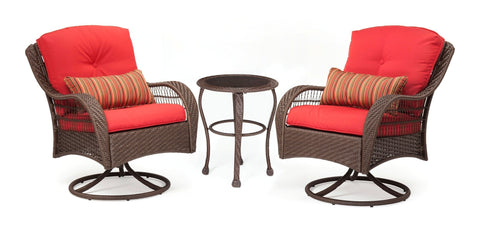 Seating - Bristol Patio Bistro Set (Scarlet Red, 3 Piece)