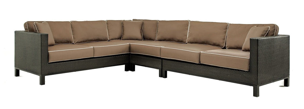 Seating - Cabrera Sectional Seating Set (Canvas Cocoa)