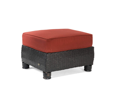 Breckenridge Patio Ottoman (Brick Red)
