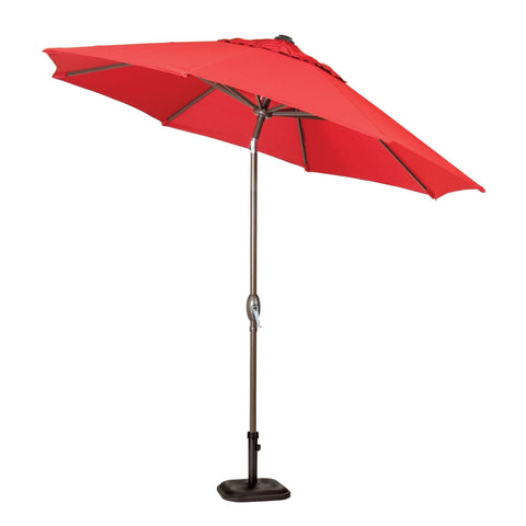 Umbrella - Bristol & Bella Vista Red Umbrella And Base (Scarlet Red)