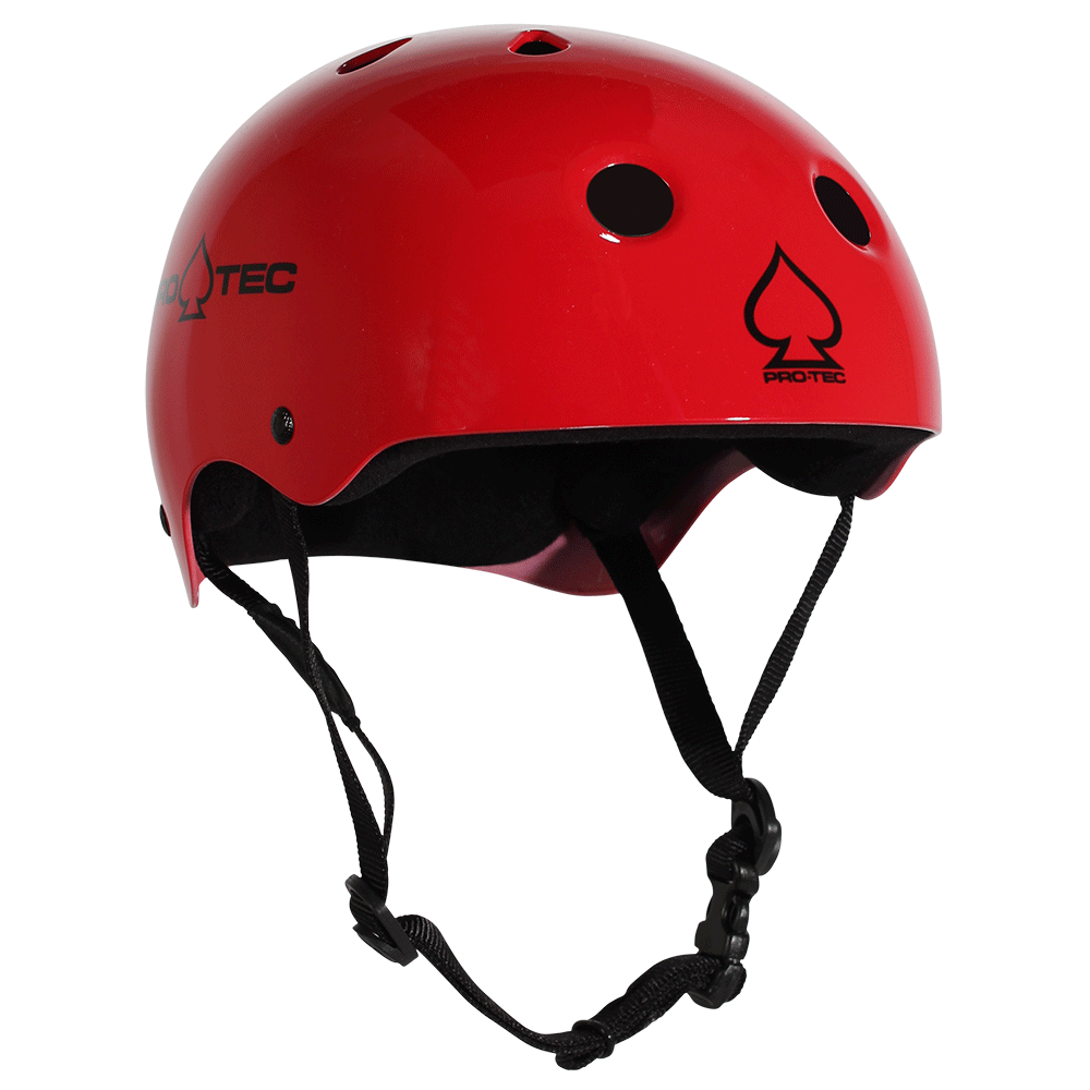 CLASSIC SKATE - GLOSS RED COOL SKATEBOARD HELMETS