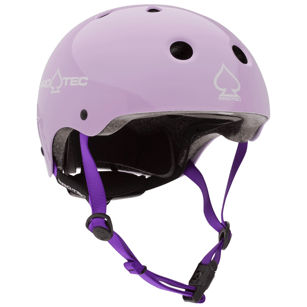 BABY BIKE HELMET JR. CLASSIC FIT - GLOSS PURPLE (CERTIFIED)