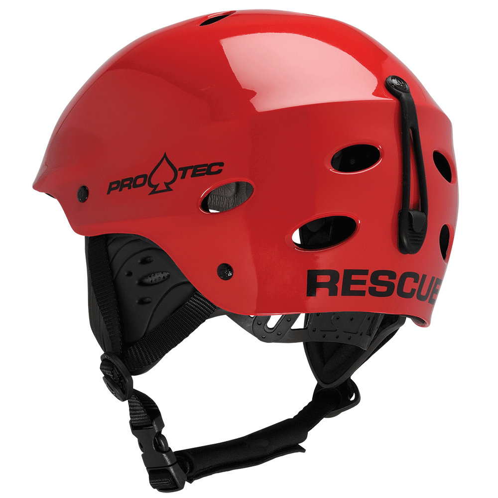 ACE WATER RESCUE - GLOSS RED KAYAK HELMET