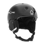 JR. CLASSIC CERTIFIED SNOW GLOSS BLACK SKI HELMET SALE