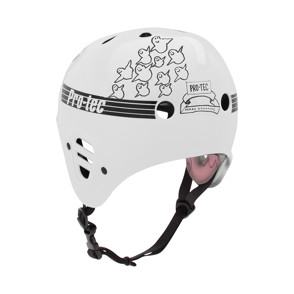 GONZ FULL CUT CERT - GLOSS WHITE (CERTIFIED) BMX HELMETS