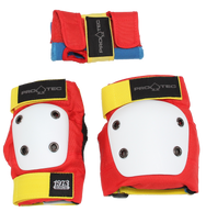 STREET GEAR JR. 3 PACK - RETRO - YOUTH SMALL SKATEBOARD KNEE PADS