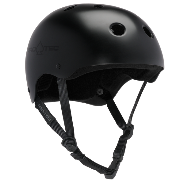CLASSIC SKATE - SATIN BLACK SKATING HELMET