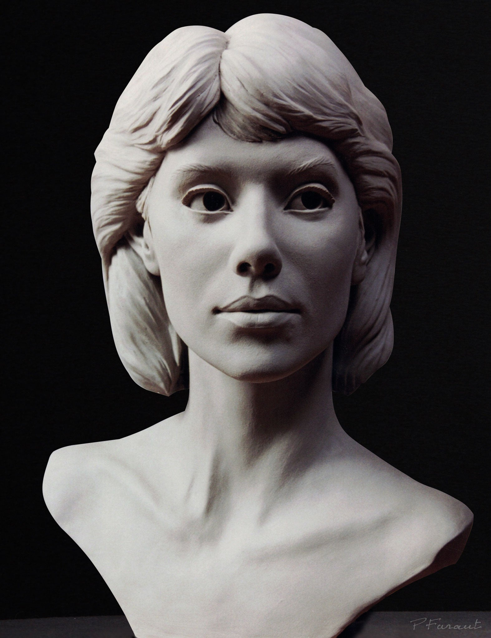 Clay portrait of the artist's wife Charisse by Philippe Faraut