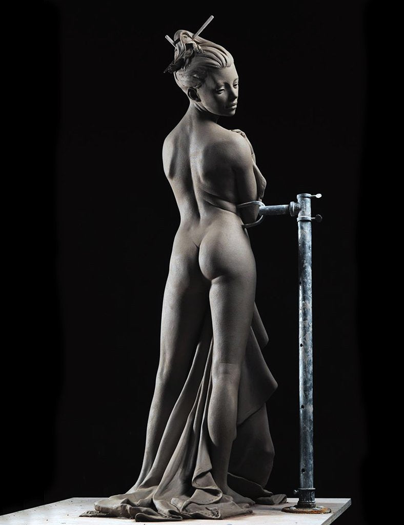 Cheval Glass figure sculpture by Philippe Faraut