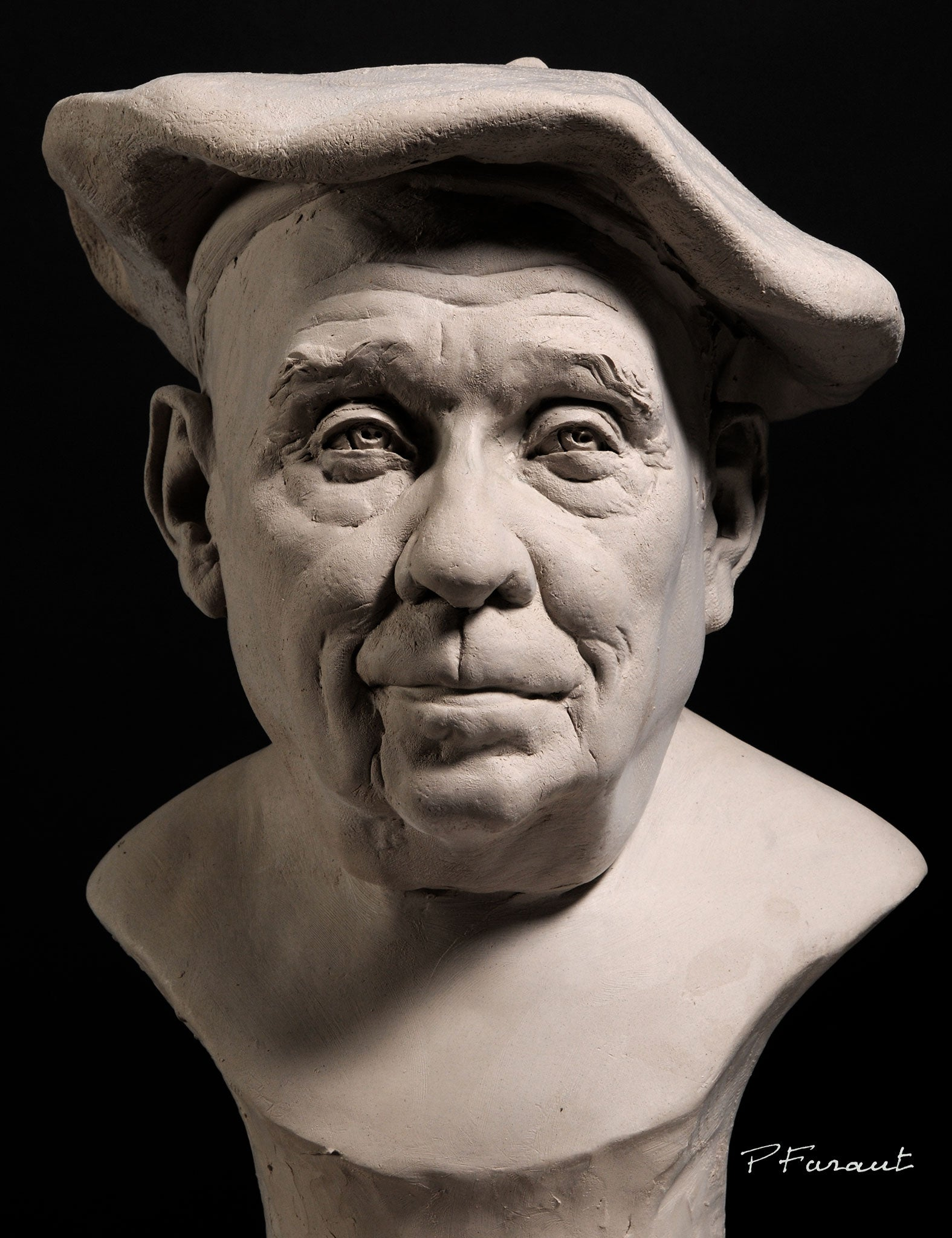 Portrait bust of father by Phlippe Faraut