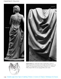 Sample page from book: Figure Sculpting Volume 2 by Faraut showing drapery in clay