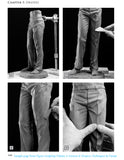 Sample page from book: Figure Sculpting Volume 2 by Faraut showing how to sculpt pants