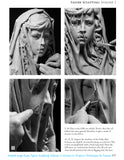 Sample page from book: Figure Sculpting Volume 2 by Faraut showing how to sculpt translucent fabric