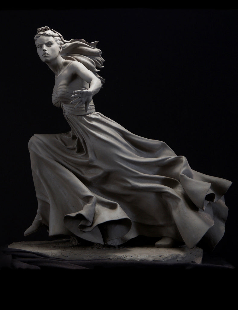 "Philippe Faraut sculpture ""I Don't"" from Book 4: Figure Sculpting Volume 2: Gesture & Drapery Techniques in Clay"